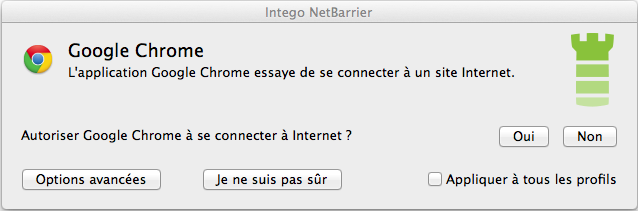 Alerte NetBarrier - Google Chrome