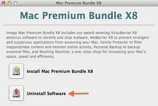 Mac Premium Bundle X8 uninstall