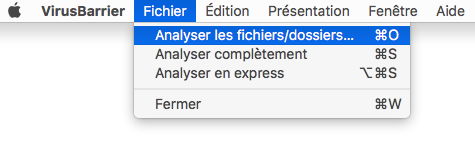 Fichier > Analyser les fichiers/dossiers…