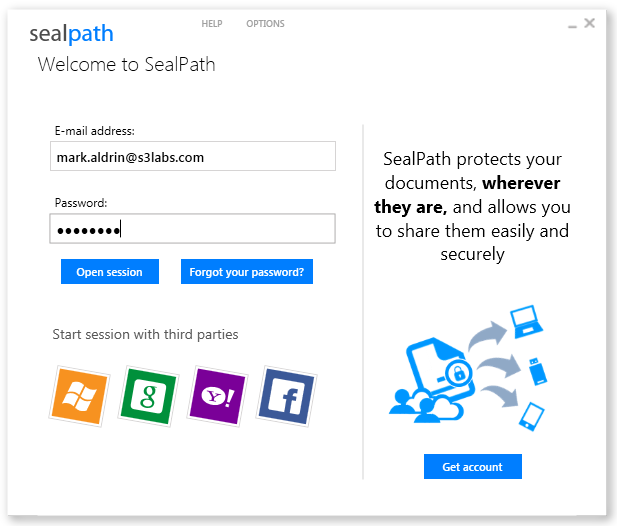 SealPath Desktop Login.png