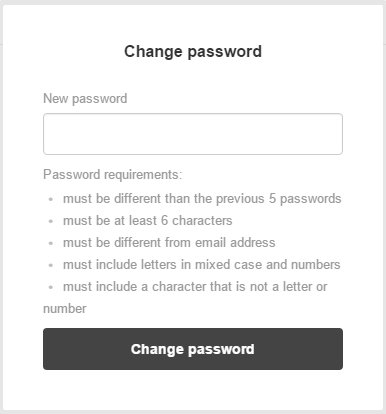 Enter/Change Password