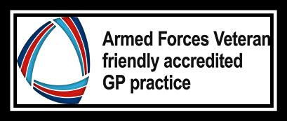 NHS England Military veteran aware accreditation logo